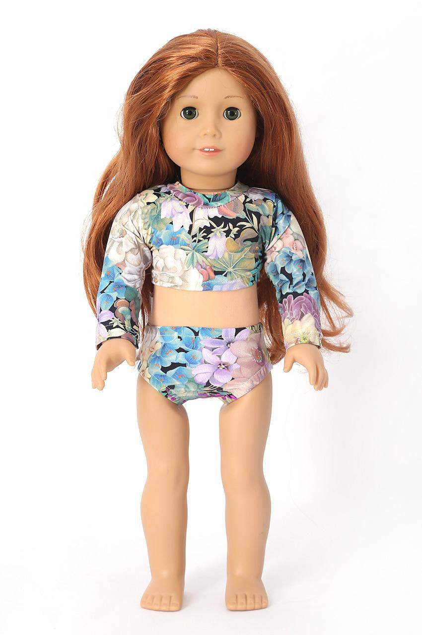 Cropped flowers doll